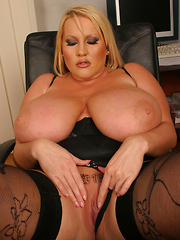 Laura M Secretary masturbates in her Office